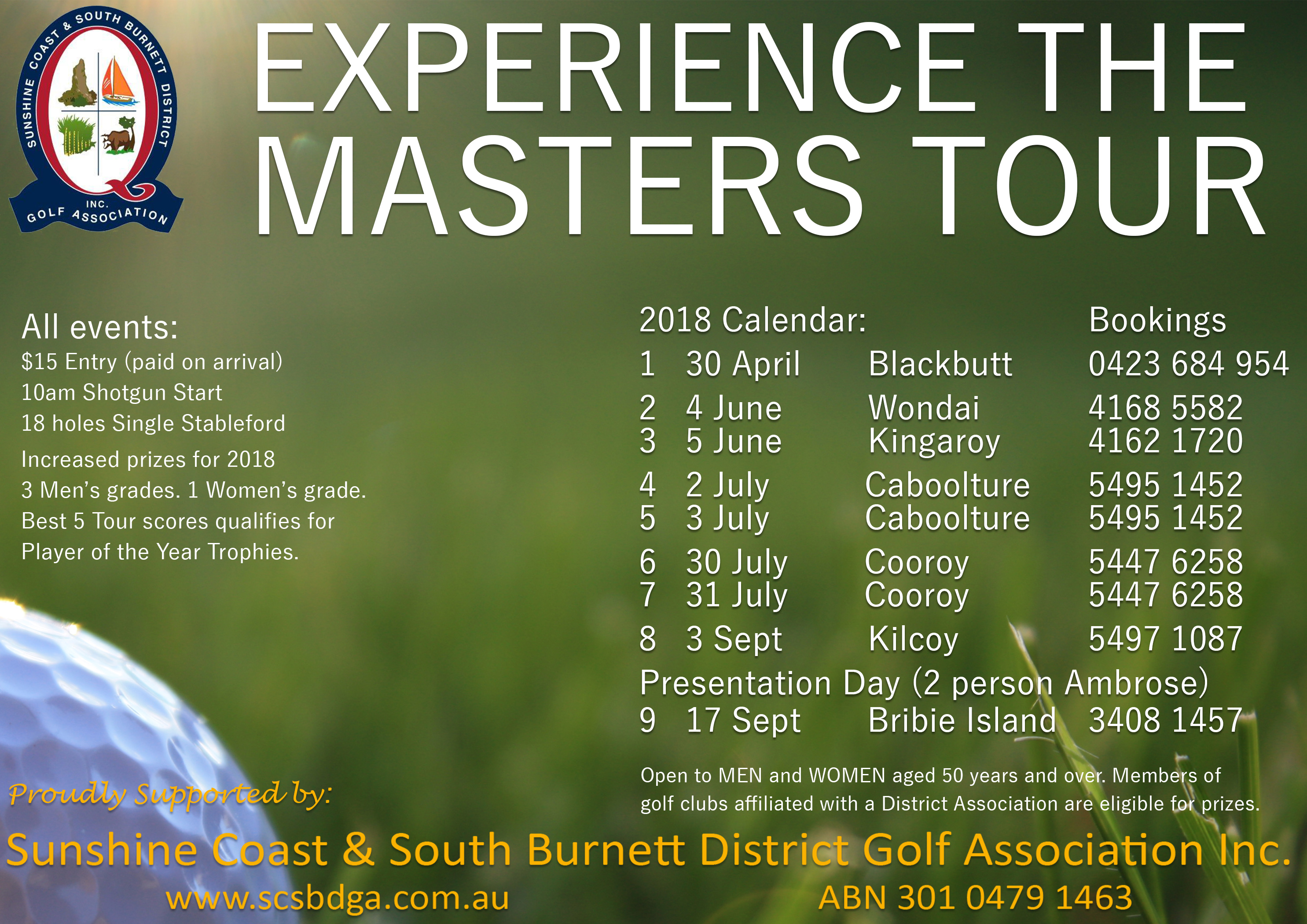 2018 Masters Tour Flyer